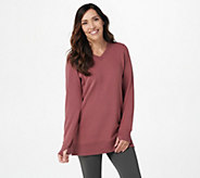 Denim & Co. Active Petite Lush Lined Jersey V-Neck Tunic - A389487