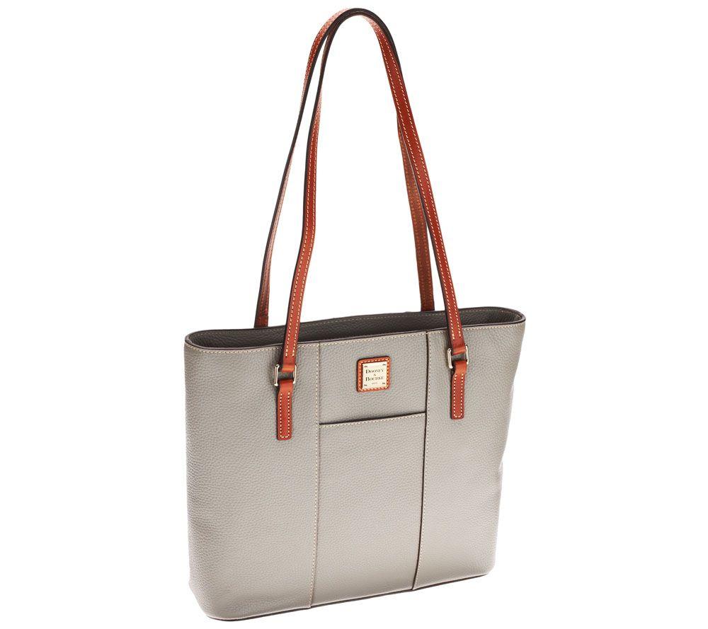 e5ac352c3b1c Dooney   Bourke Pebble Leather Lexington Shopper - Page 1 — QVC.com