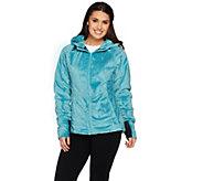 Loki Womens Cozy Cabin Fleece Jacket w/ Built-in Gloves - A282188