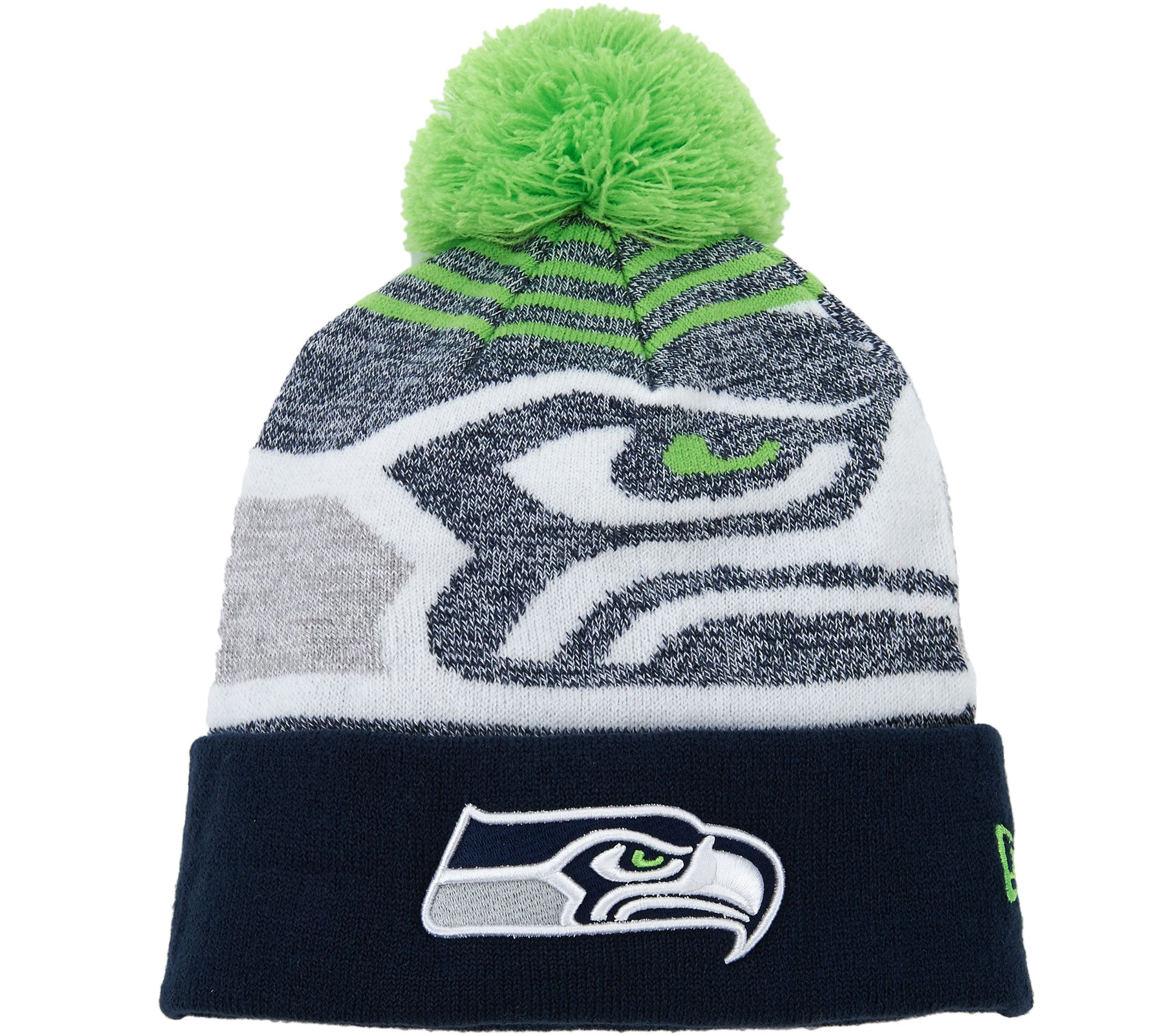 3b386ee1e88 NFL Cuff Knit Hat with Pom by New Era - Page 1 — QVC.com