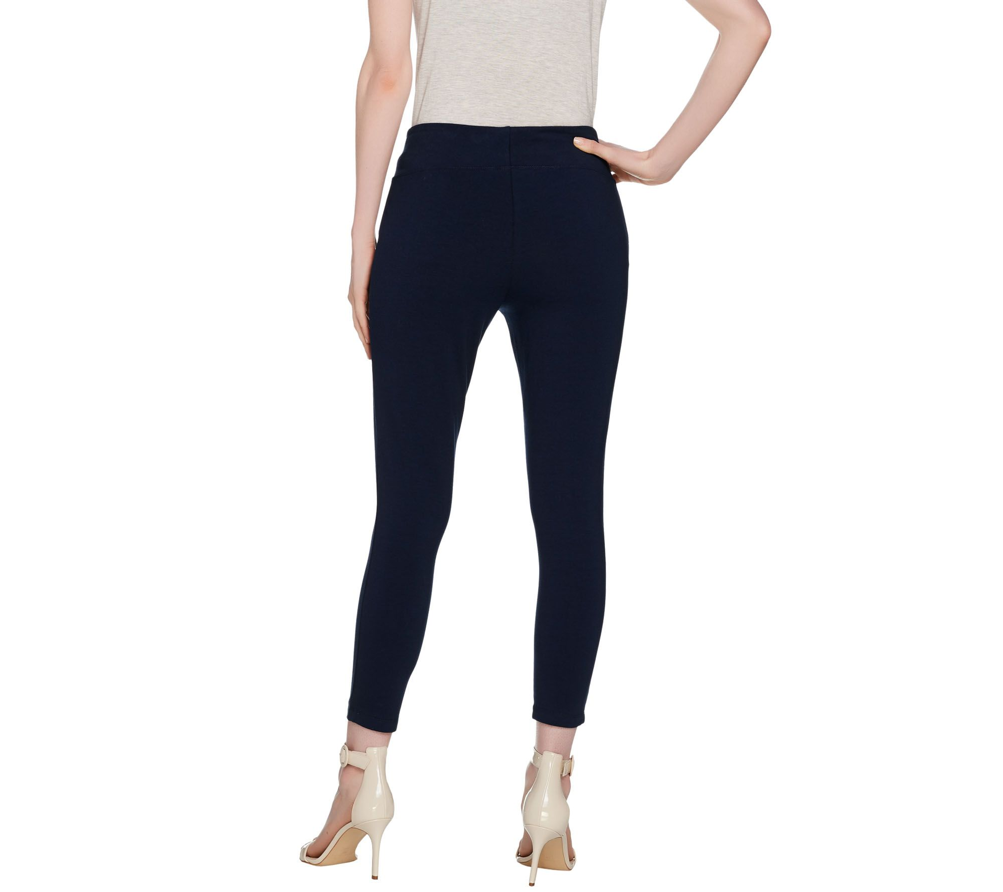 1f57278a6e9aa Wicked by Women with Control Petite Cropped Knit Leggings - Page 1 — QVC.com