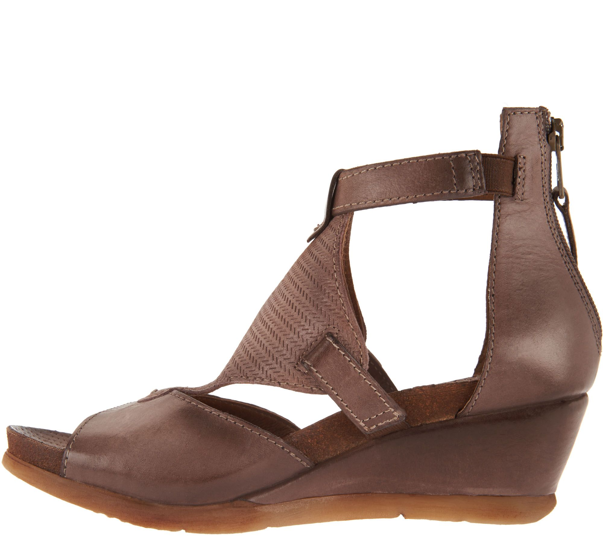5fa6f11906b Miz Mooz Leather Wedge Sandals - Maisie - Page 1 — QVC.com