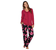 Stan Herman Petite Micro Fleece Novelty Pajama Set - A294388