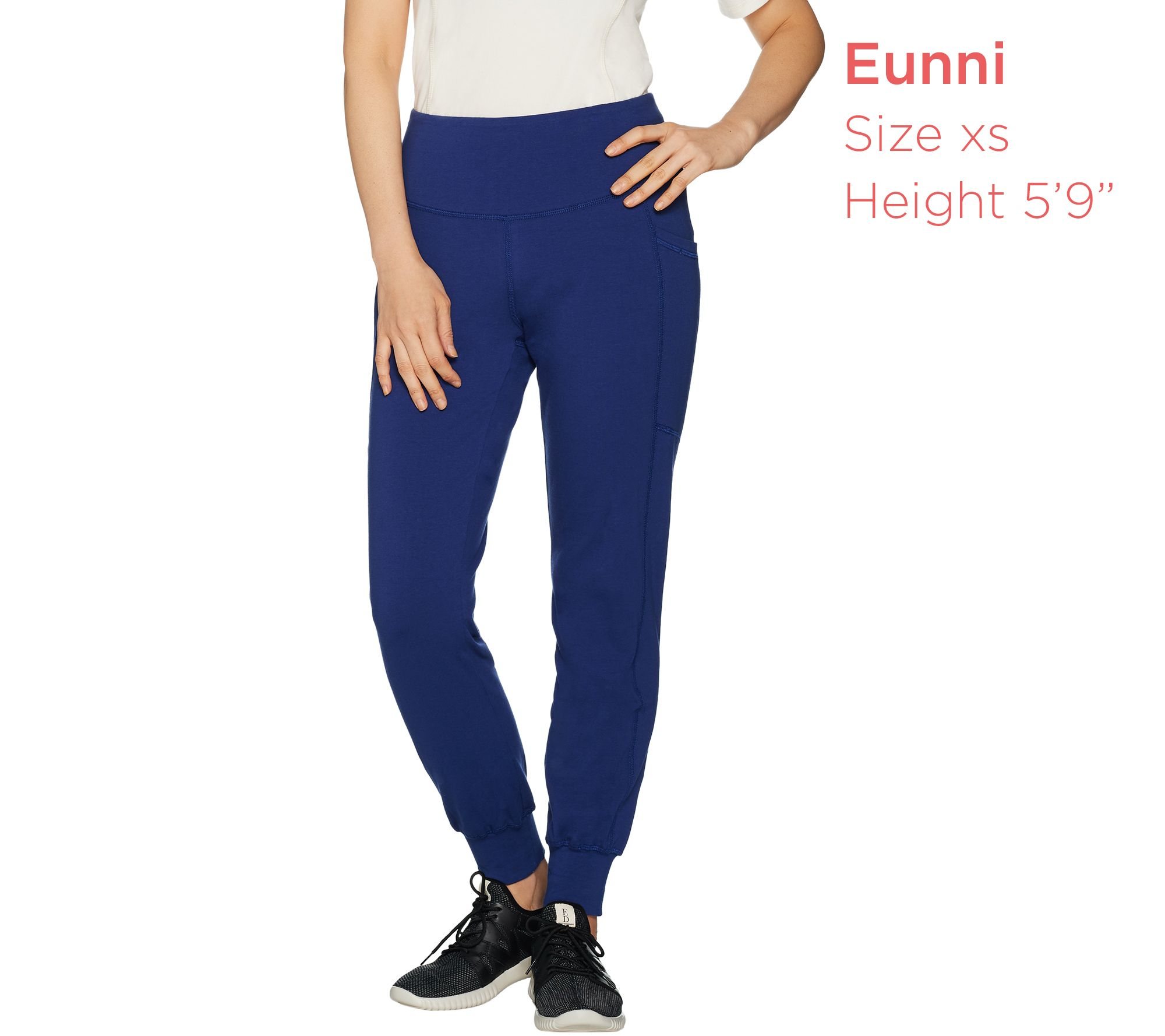 Denim Co Active Pull-On Knit Jogger Leggings Black 1X NEW A299388