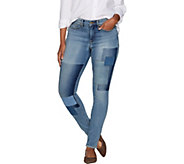 Martha Stewart Petite Patchwork 5-Pocket Ankle Jeans - A301088