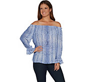 Laurie Felt Woven Off the Shoulder Blouse - A301688