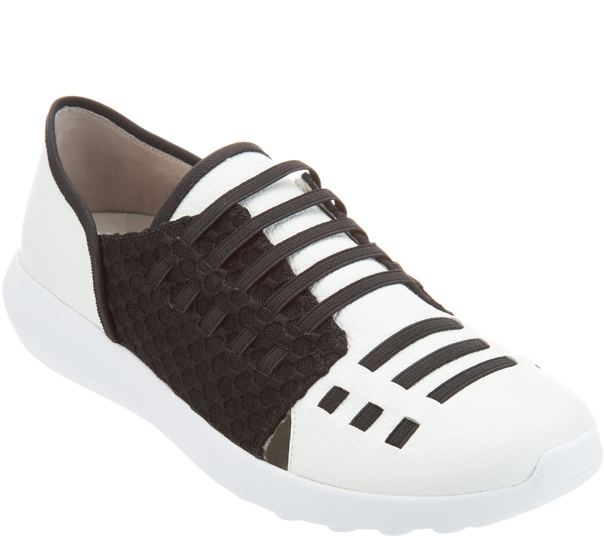 Lori Goldstein Collection Slip On Sneaker with Elastic Laces