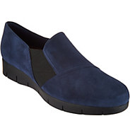 As Is Clarks Artisan Suede Slip-on Shoes Daelyn Monarch - A302988