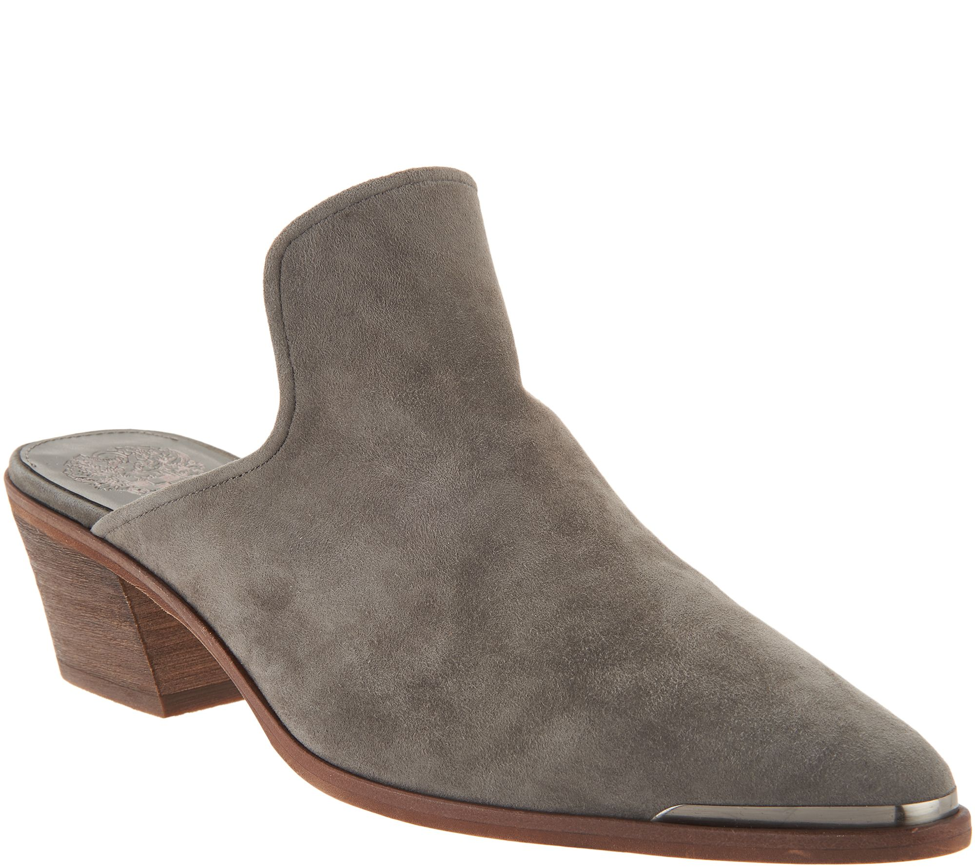 6d124ff8e0d4 Vince Camuto Leather Slip-on Mules - Karcha - Page 1 — QVC.com