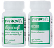 RestoreLife Formulas Ubiquinol Renew and Curcumin 30-Day Supplies - A345588