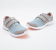 Vionic Suede & Mesh Adjustable Sneakers - Ema - A346588