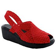 Heal Peep Toe Slingback Wedge Sandals - Paige - A364588