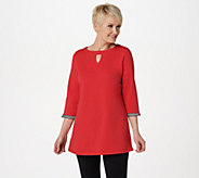 Denim & Co. Active French Terry Tunic with Trim Detail - A365288