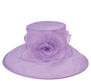 San Diego Hat Co. Lightweight Dressy Hat with Rosette Petals - A412588