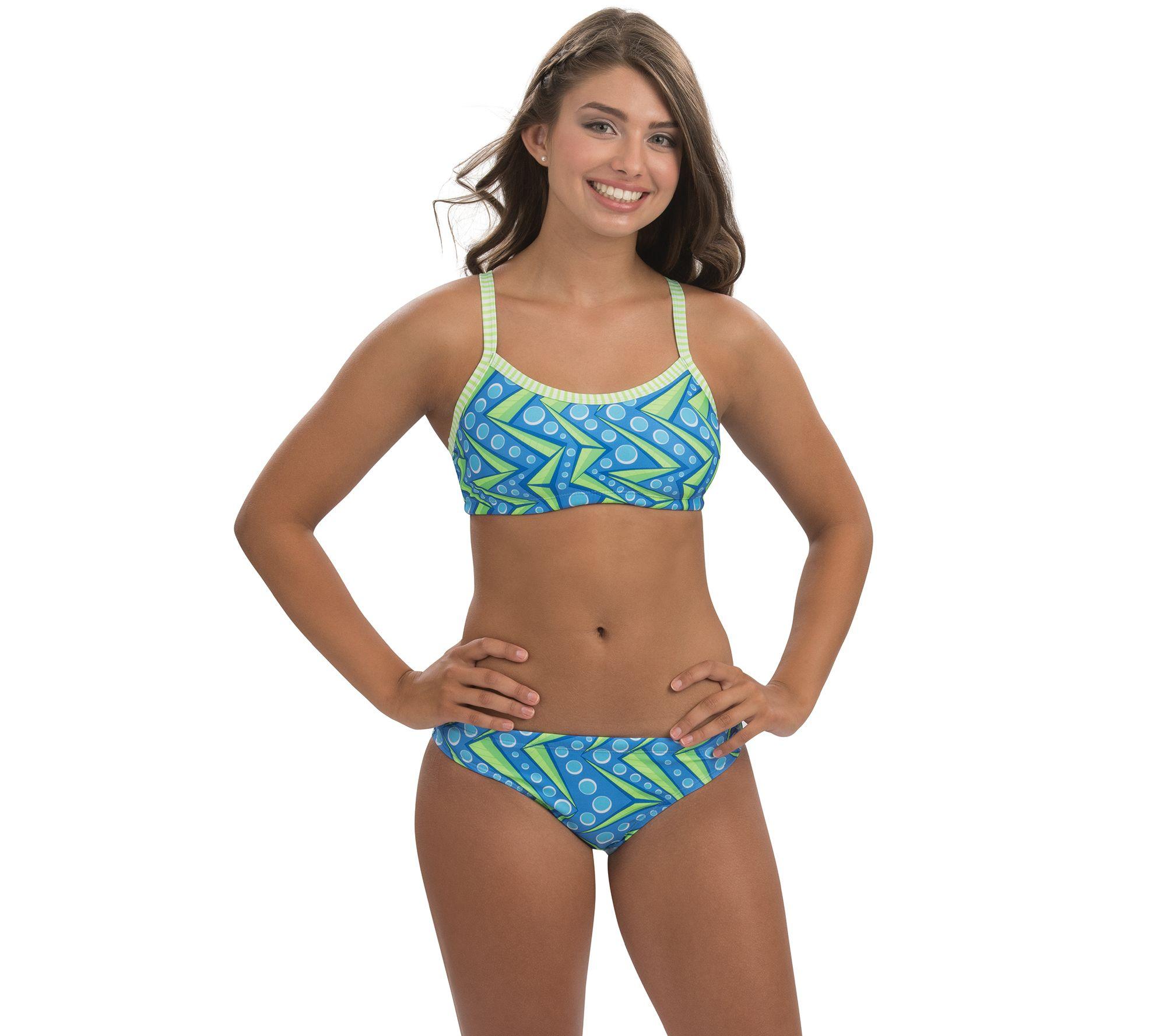 5175d128fe Dolfin Uglies Zenon Print Workout 2-Piece Swimsuit — QVC.com
