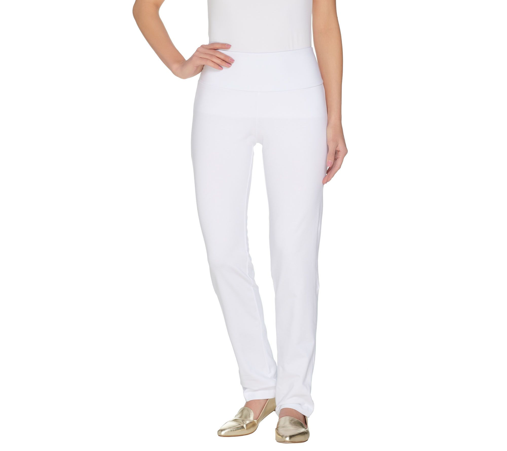 408063d64f Women with Control Regular Slim Leg Pants w Tummy Control - Page 1 ...