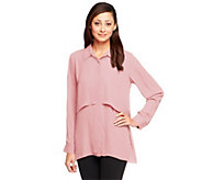 Joan Rivers Button Front Layered Blouse - A239589