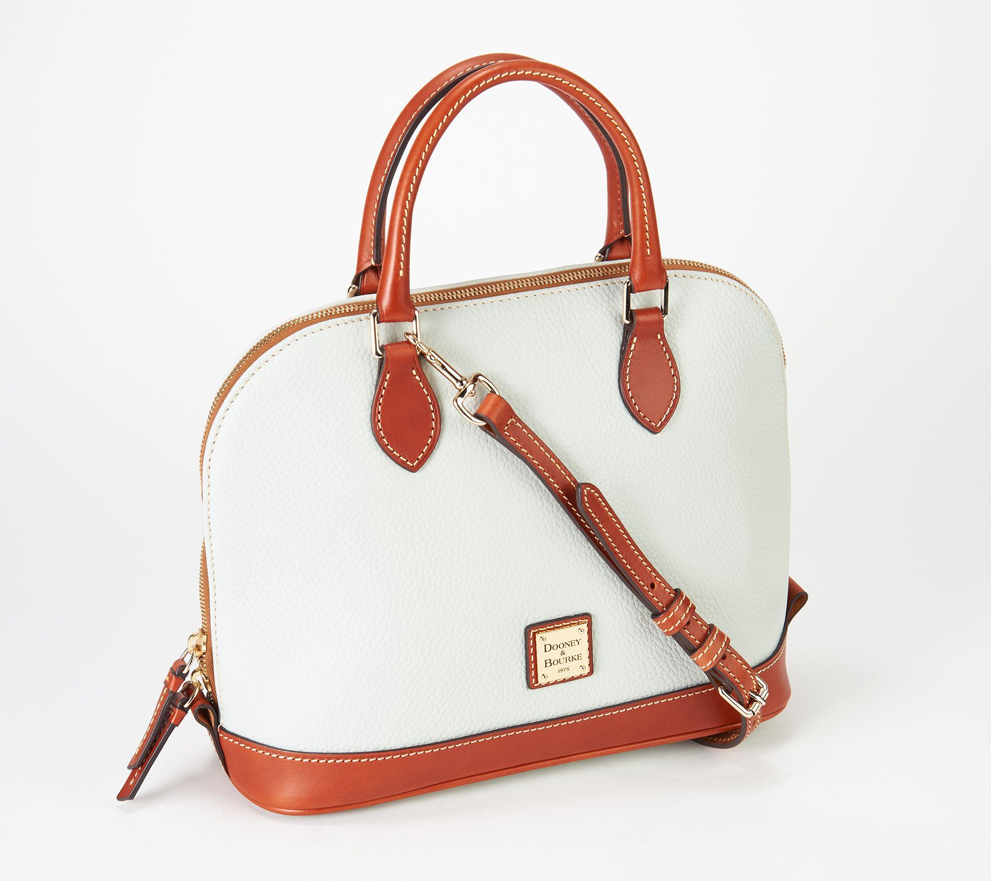 7938156bf35 Dooney   Bourke Pebble Leather Zip Zip Satchel - Page 1 — QVC.com