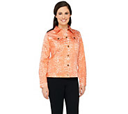 Joan Rivers Animal Print Denim Jacket - A262489