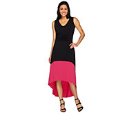 Kelly by Clinton Kelly Petite Hi-Low Hem Color Block Dress - A266489