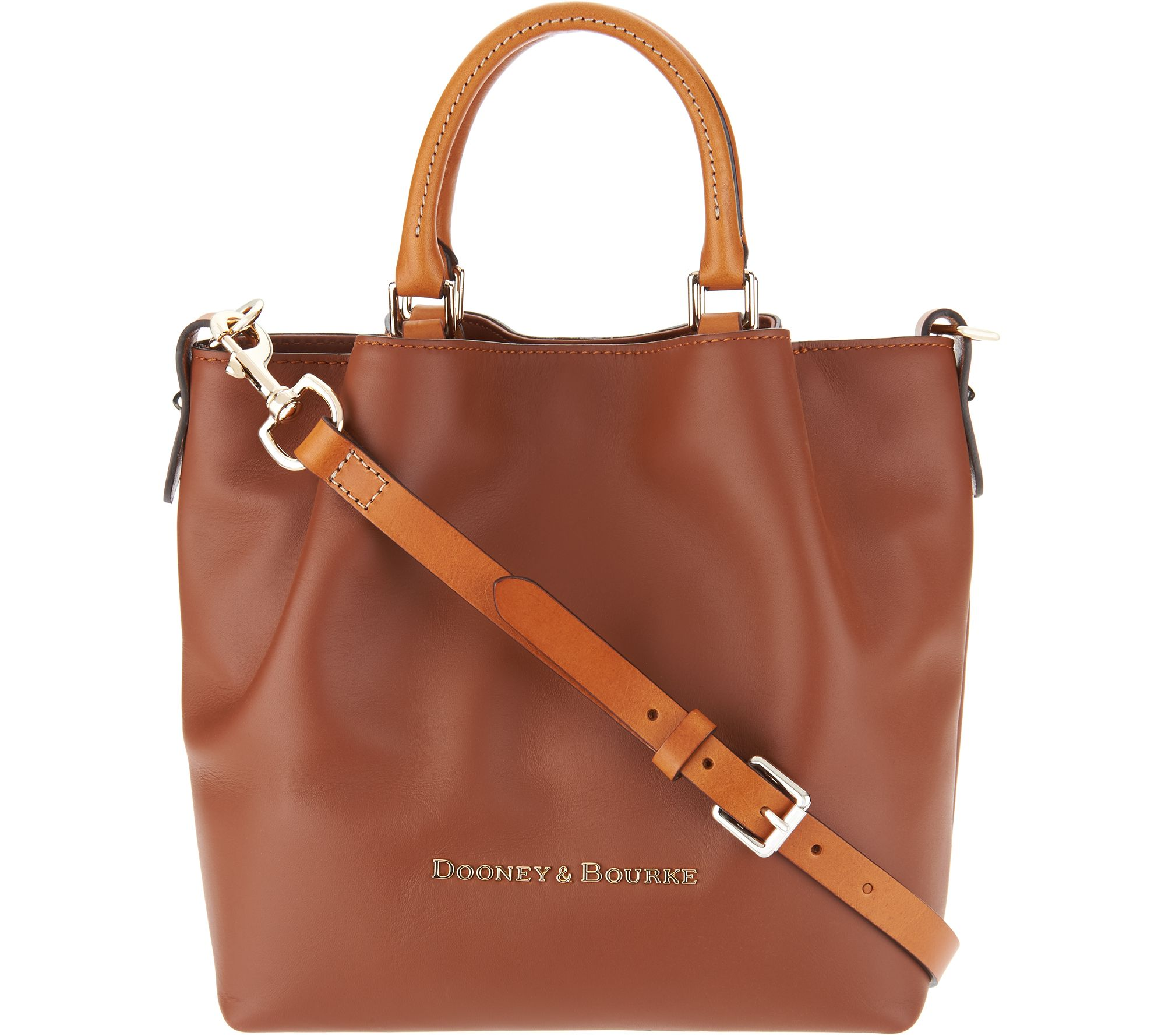 07d21641ad6 Dooney & Bourke Smooth Leather Small Barlow Satchel - Page 1 — QVC.com