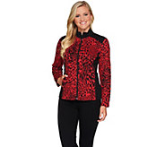 Susan Graver Weekend Jacquard Knit Jacket w/French Terry Trim - A279789