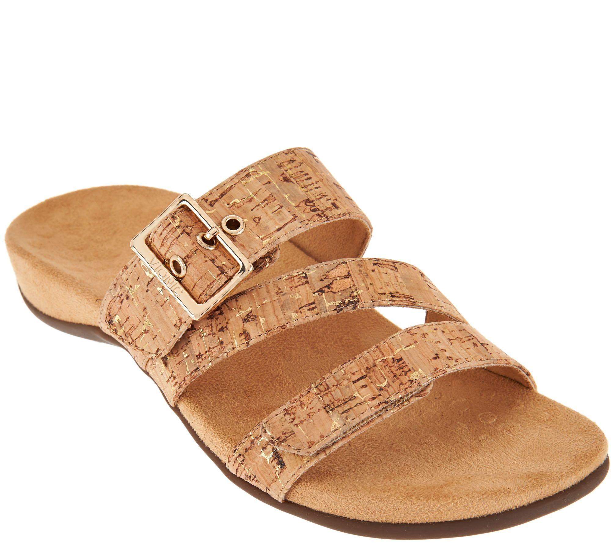 Vionic Adjustable Slide Sandals - Skylar — QVC.com