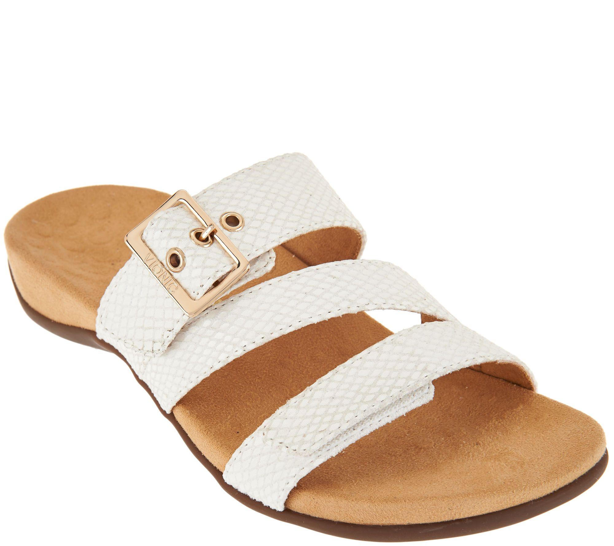 6eca5f8e886c Vionic Adjustable Slide Sandals - Skylar - Page 1 — qvc vionic shoes video