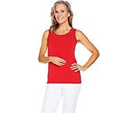 Susan Graver Liquid Knit Tank with Grommets - A289389
