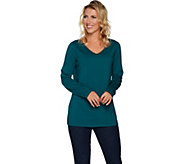 Belle by Kim Gravel Essential Long Sleeved Top with Sparkle - A293589