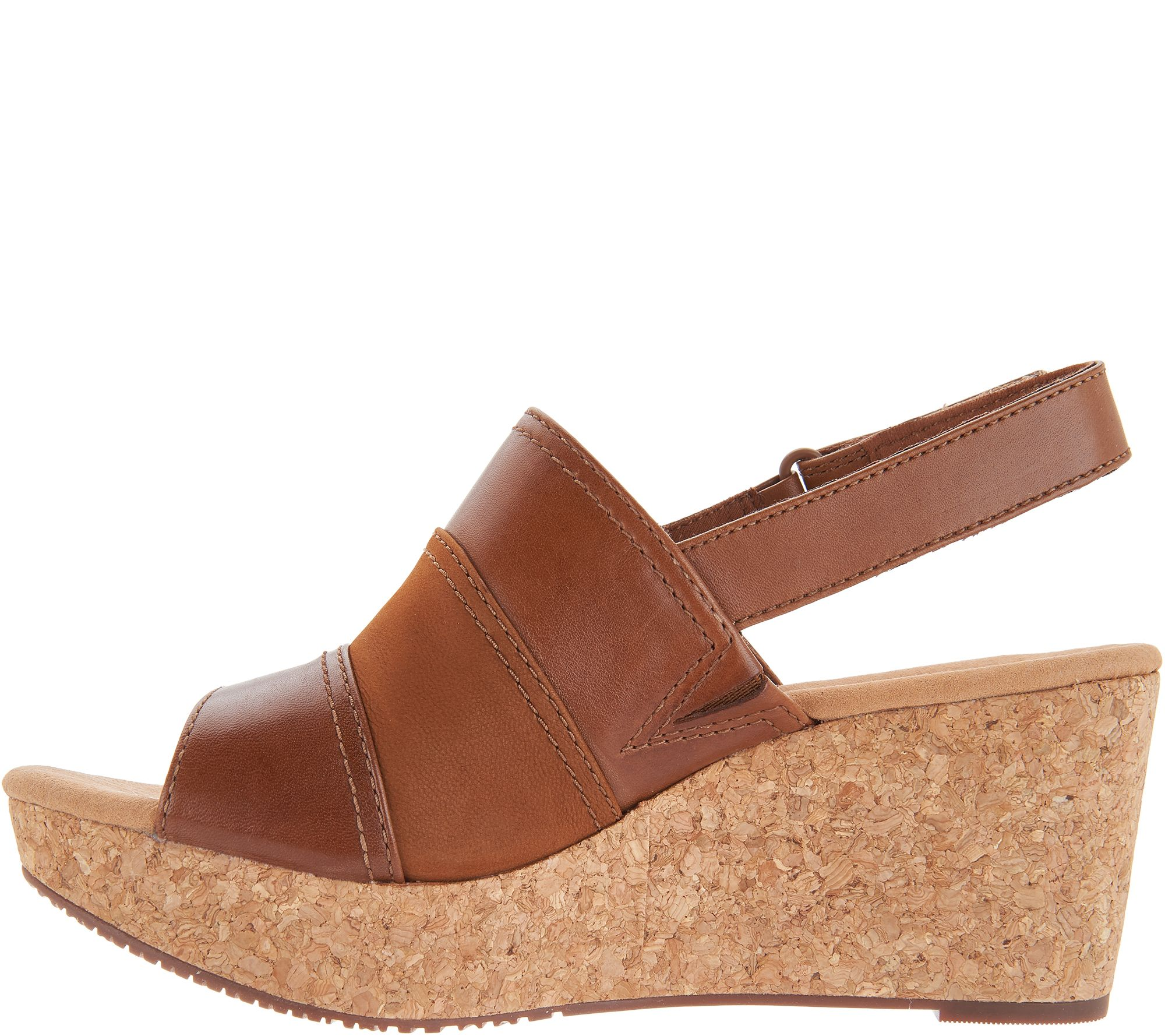 Wedge Clarks Leather Page Collection Cork Annadel Sandals Janis 8Oknw0P