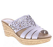 Spring Step Nubuck Wedge Sandals - Vino - A335689