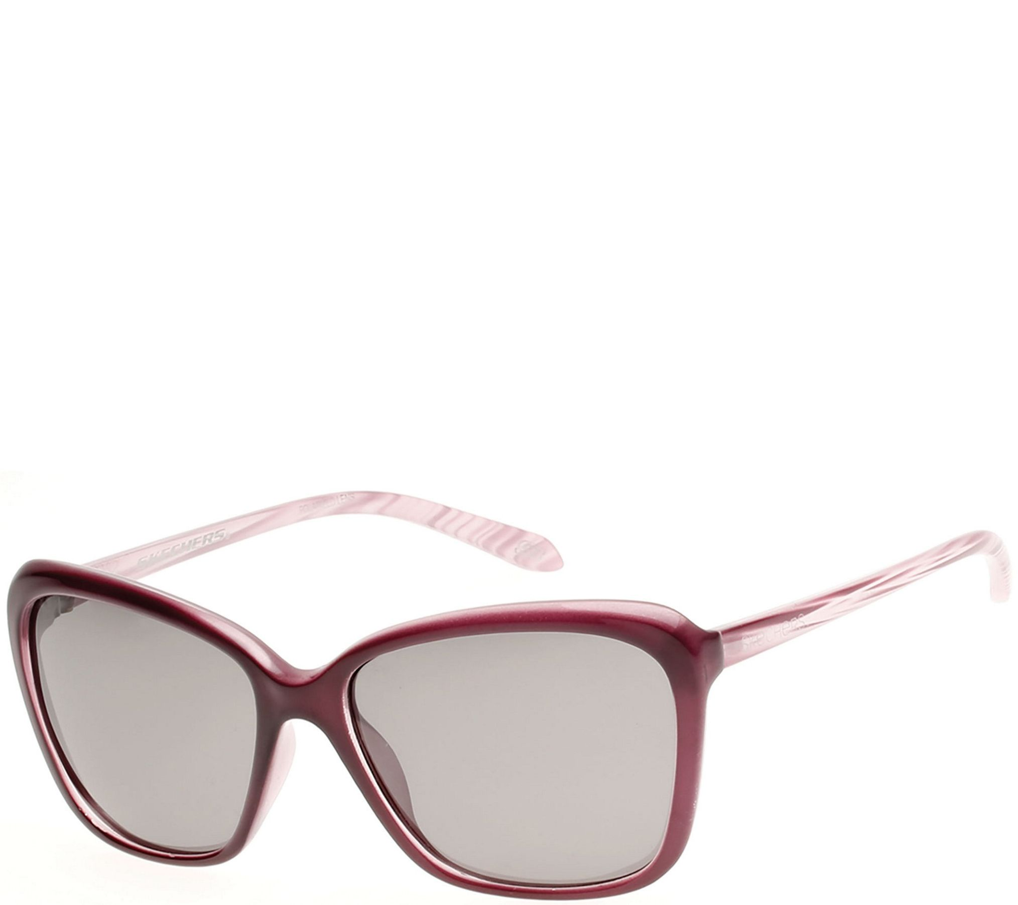 Skechers Women\'s Polarized Sunglasses - Burgundy - Page 1 — QVC.com