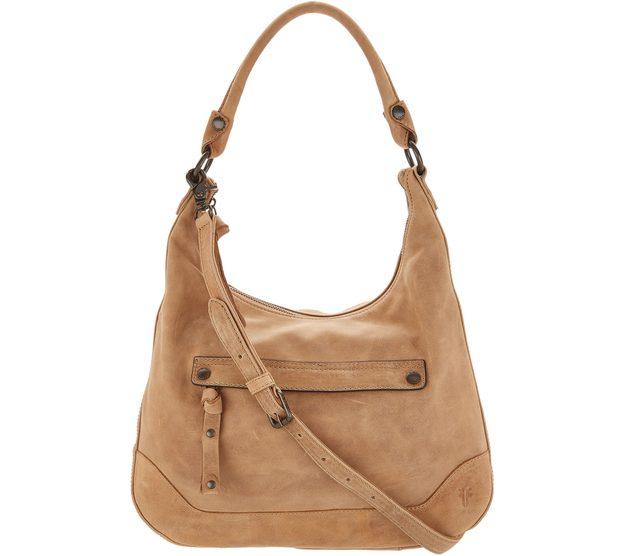 d860188fba Frye Leather Melissa Zip Hobo Handbag - Page 1 — QVC.com