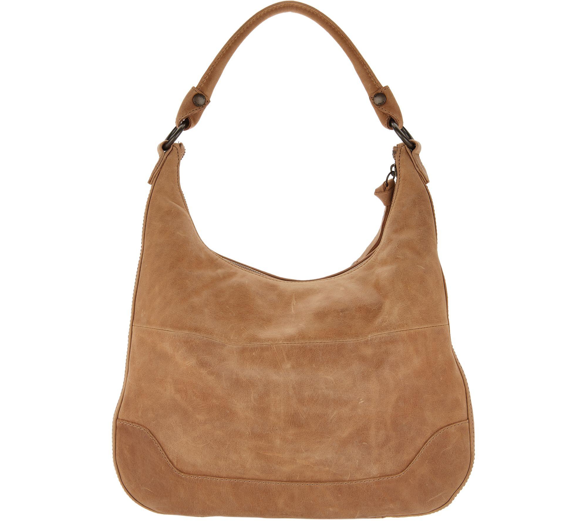 6e504a2596 Frye Leather Melissa Zip Hobo Handbag - Page 1 — QVC.com