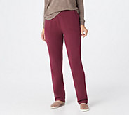 Denim & Co. Active Petite French Terry Pull-on Pants - A235390