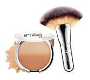 IT Cosmetics CC Anti-Aging Ombre Radiance Bronzer w/ Luxe Mega Fan Brush - A253490