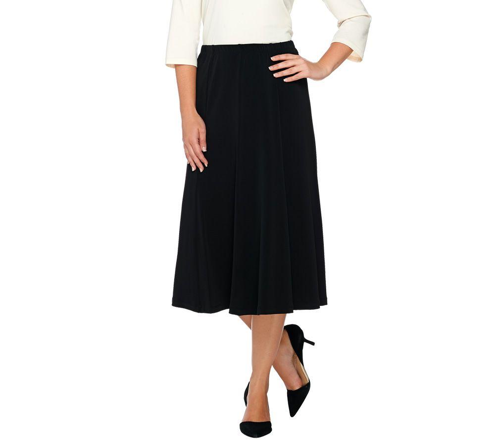 0b488f052b Susan Graver Liquid Knit Comfort Waist 8 Gored Pull-On Skirt - Page 1 —  QVC.com