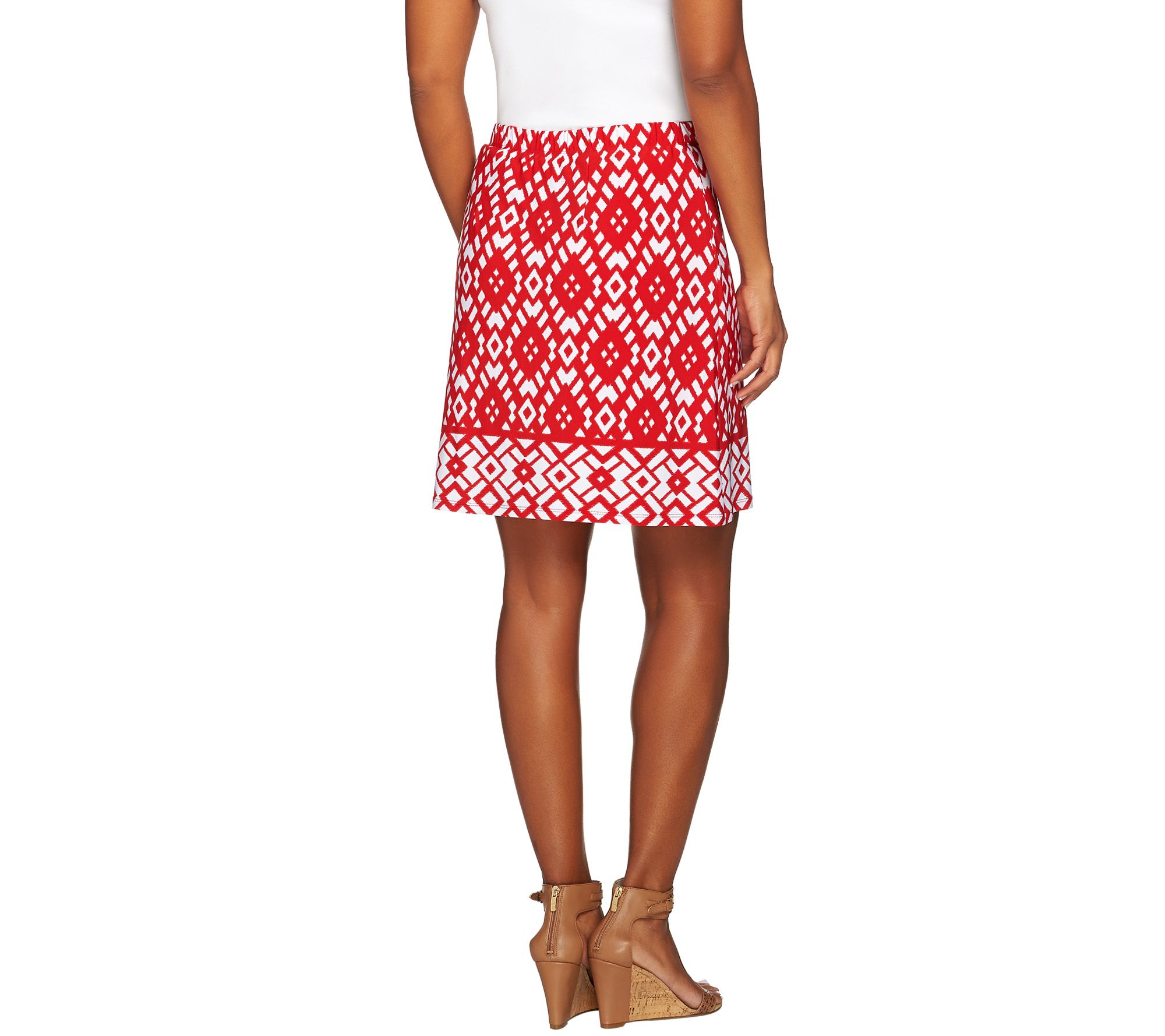 cf2d0e6fc4 Susan Graver Choice of Solid or Print Liquid Knit Pull-On Skort - Page 1 —  QVC.com