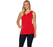Susan Graver Liquid Knit Tank with Ring Detail - A277790