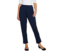 H by Halston Ankle Length Pull-On Tapered Knit Pants - A277990