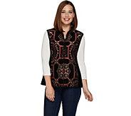Susan Graver Tapestry Zip Front Vest - A282090