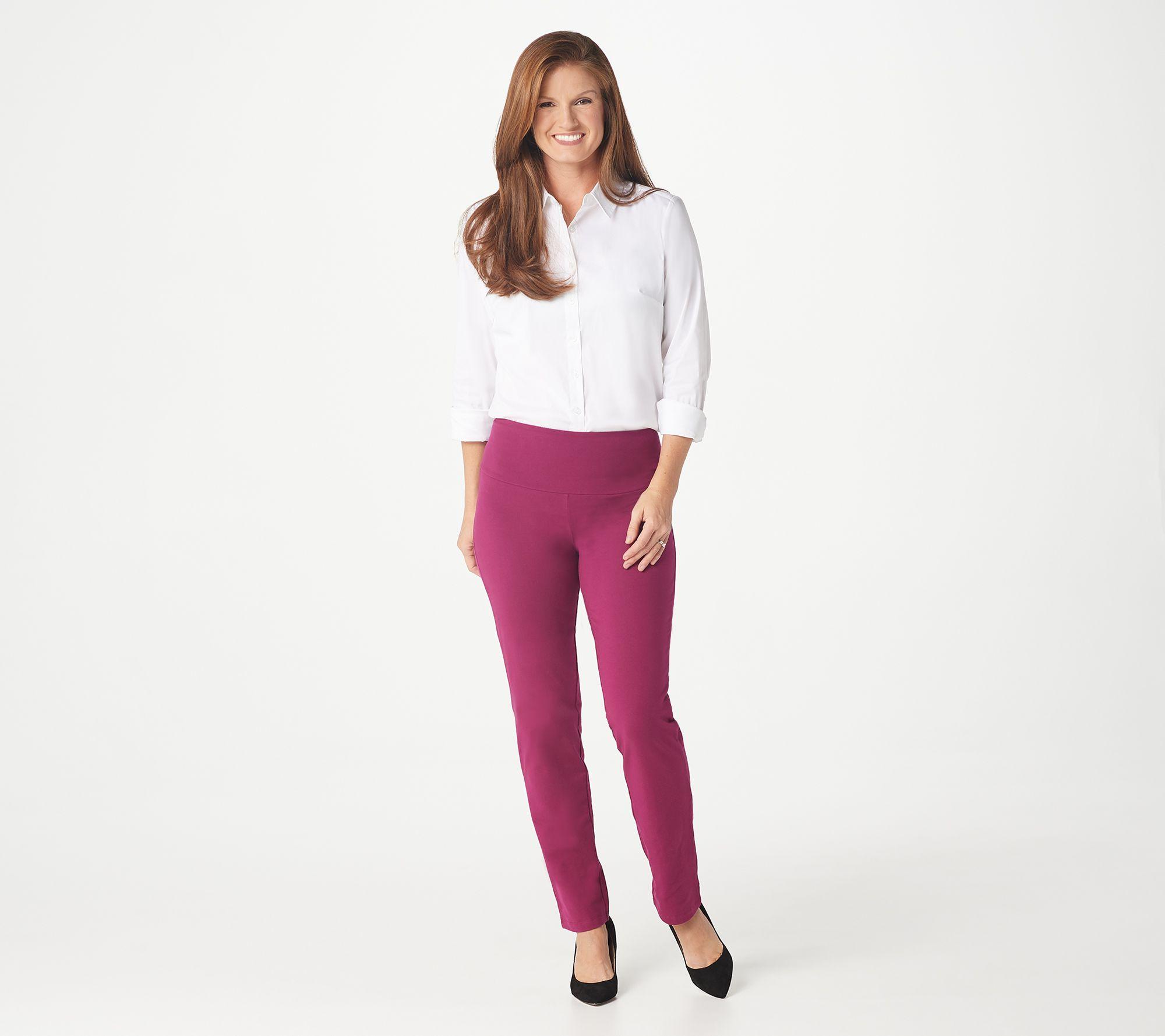 Women With Control Tummy Control Elastic Waist SlimLeg Pant Black PL NEW A284090