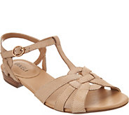 Vaneli Leather Multi-Strap Sandals - Brandy - A287590