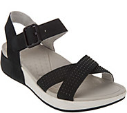 Dansko Nubuck or Suede Sandals with Ankle Strap - Cindy - A289090