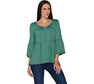 Laurie Felt Bohemian Knit Top with Keyhole Neck - A301690
