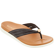 Vionic Leather Triple-Strap Thong Sandals - Catalina - A303890