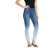 Laurie Felt Silky Denim Ombre Pull-On Skinny Jeans - A305690