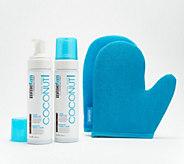 MineTan Coconut Tanning Foam Duo w/ Exfoliation Mitt - A306590