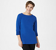Denim & Co. Active Regular French Terry 3/4- Sleeve Tunic - A352990